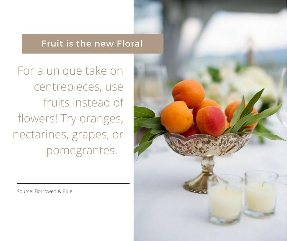 Festive Tablescapes - Fruit Centrepieces